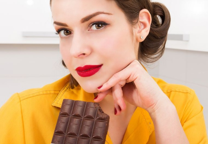 Mujer chocolate