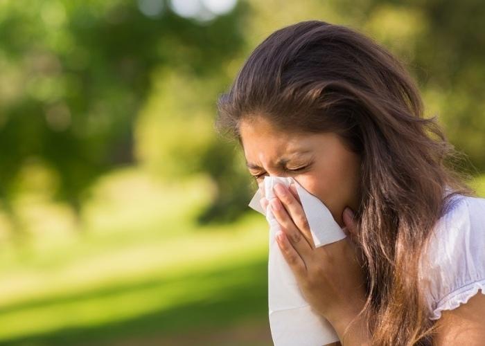Persona con alergia