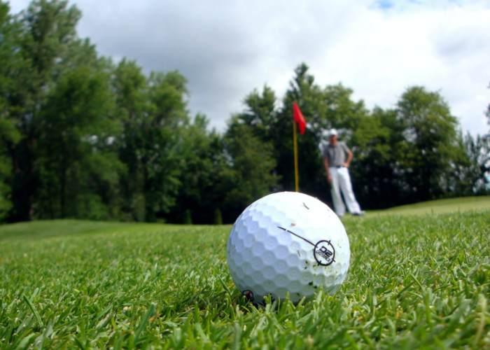 Campo golf pelota