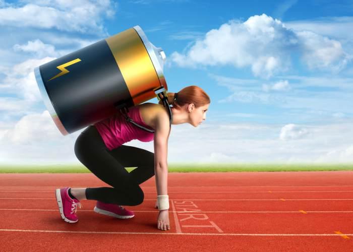 Deportista lleno energía