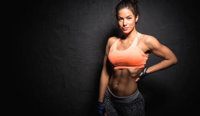 Mujer ganar músculo