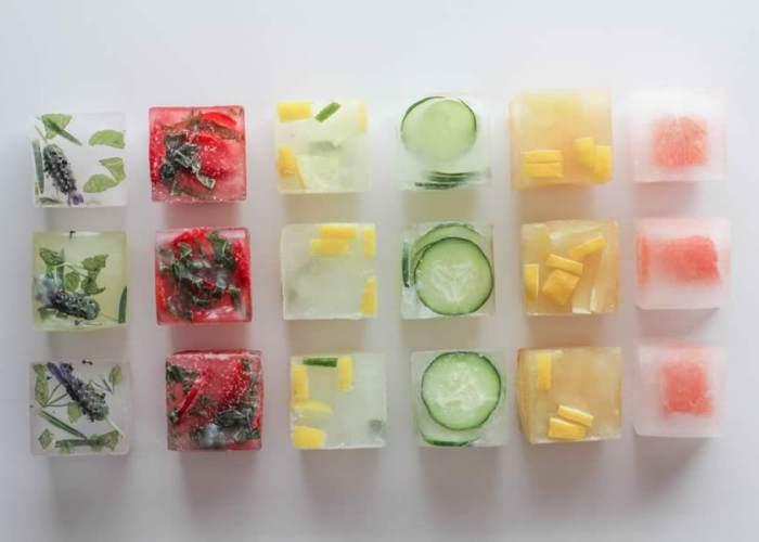Cubos de hielo variados