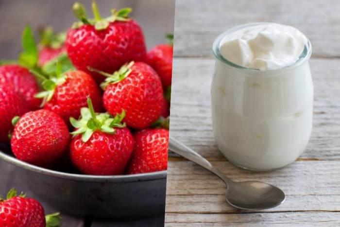 Fresa yogur
