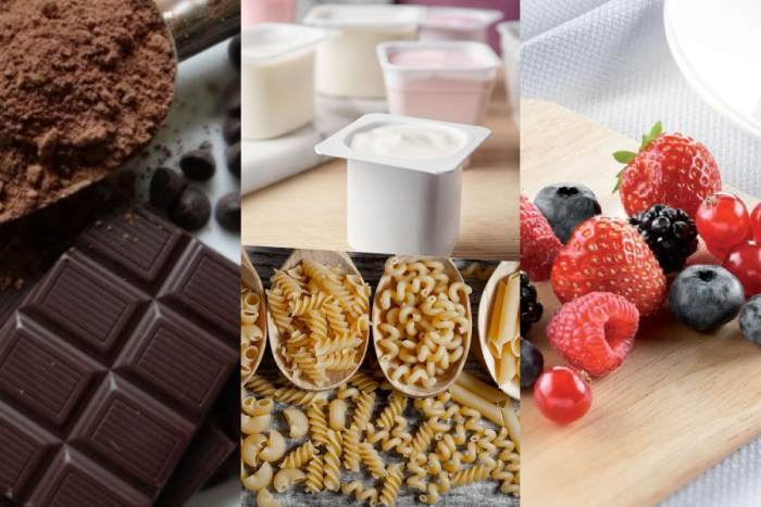 Alimentos saludables y dañinos