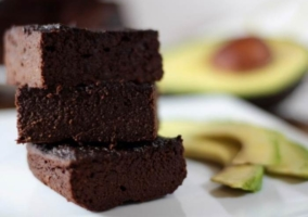 Brownie chocolate aguacate