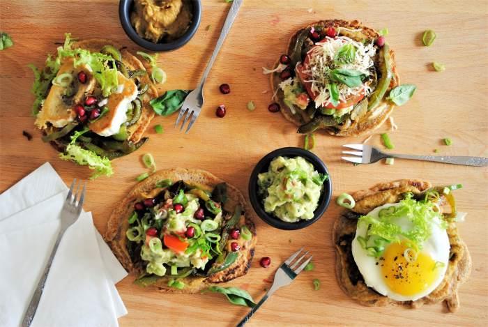 Comida con toppings salados