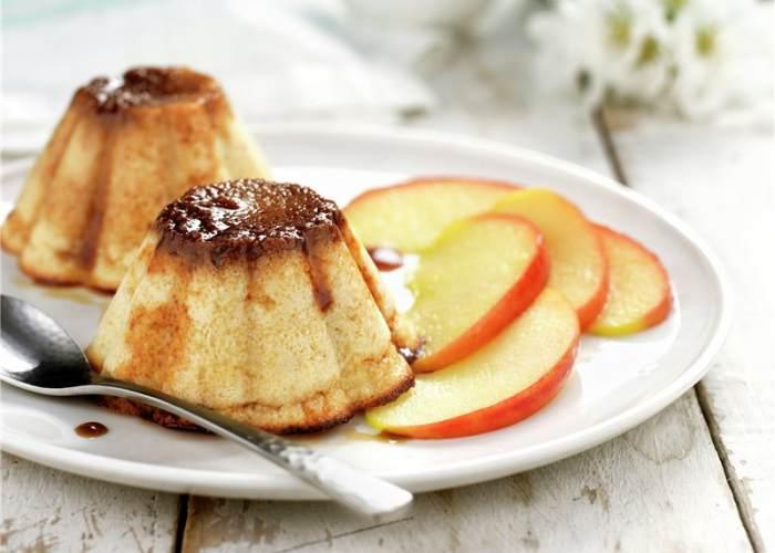 Flan manzana