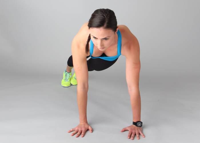Mujer relizando ejercicio