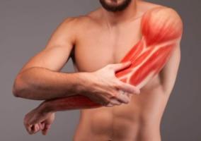 Hombre dolor músculo