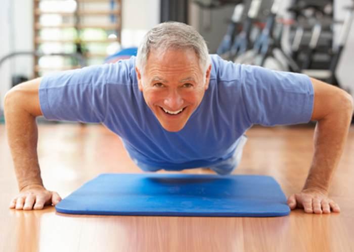 Hombre realizando ejercicio
