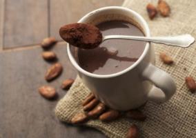 Taza con chocolate