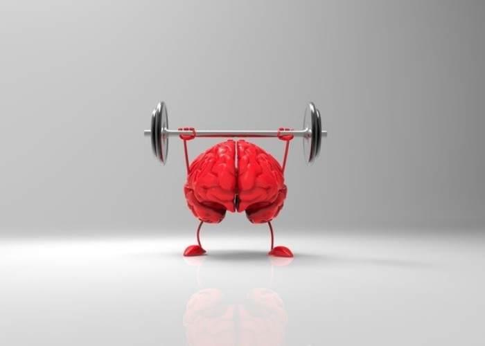 Cerebro cargando pesa