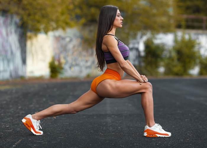 Mujer piernas tonificadas