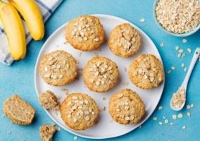 Muffins avena plátano