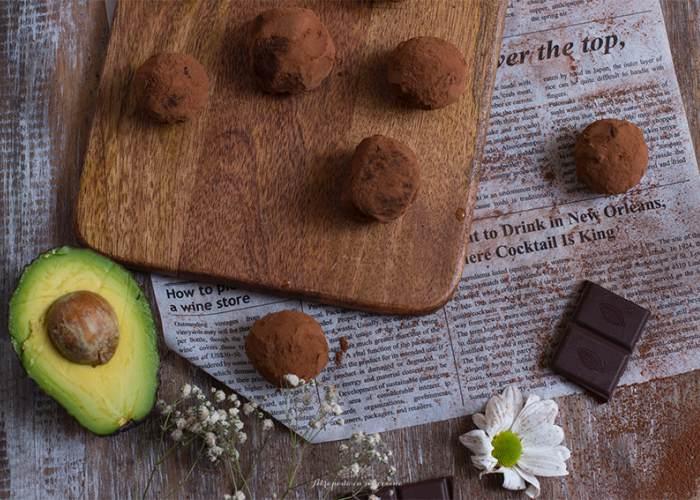 Trufas de chocolate aguacate