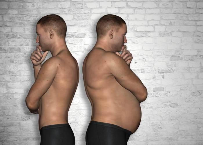 Hombre gordo y delgado