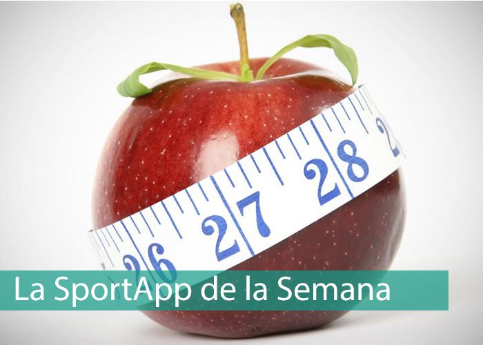 Manzana con un metro