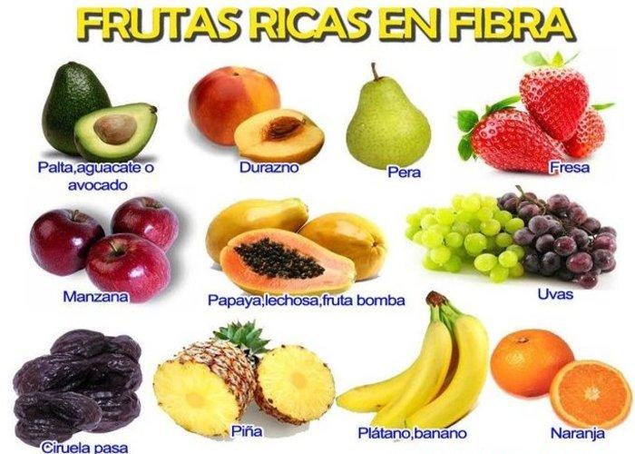 Las frutas son una gran fuente de fibra
