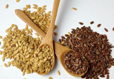 Semillas de lino dorado y marrón