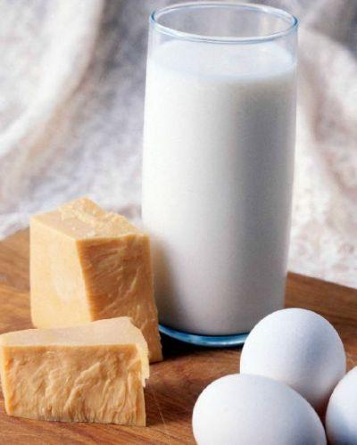 huevos leche queso